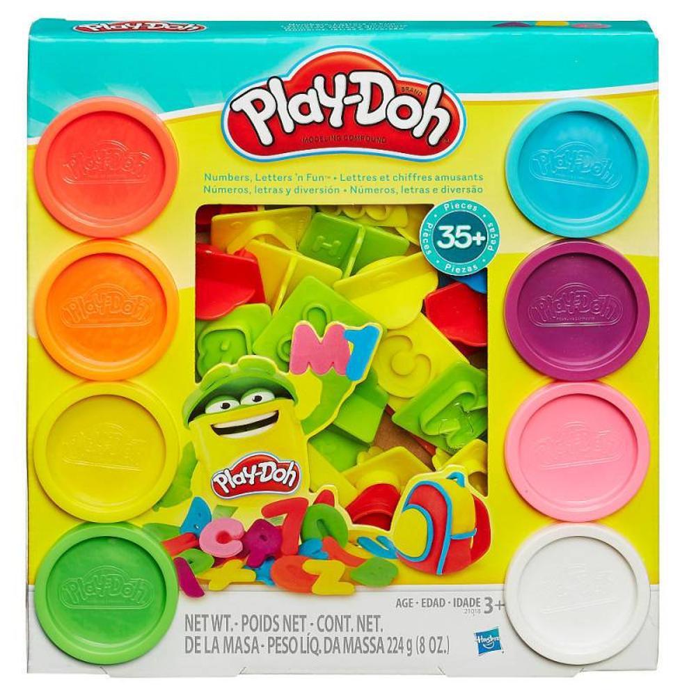 Massinha Play-Doh Números, Letras e Diversão - Hasbro