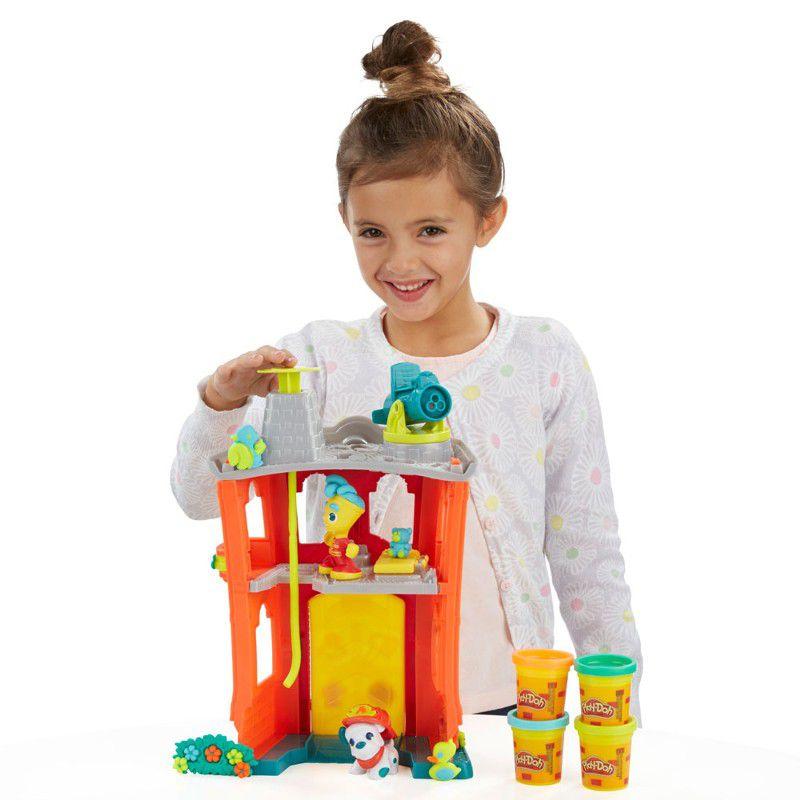 Massinha Play-Doh Town Corpo de Bombeiros - Hasbro