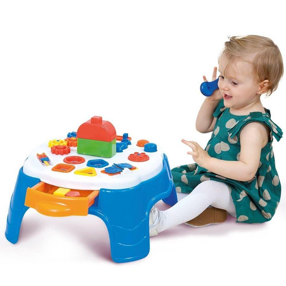 Mesa de Atividades Play Time Azul - Cotiplás