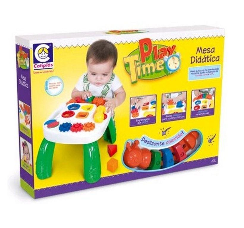 Mesa Didática Play Time Verde - Cotiplás