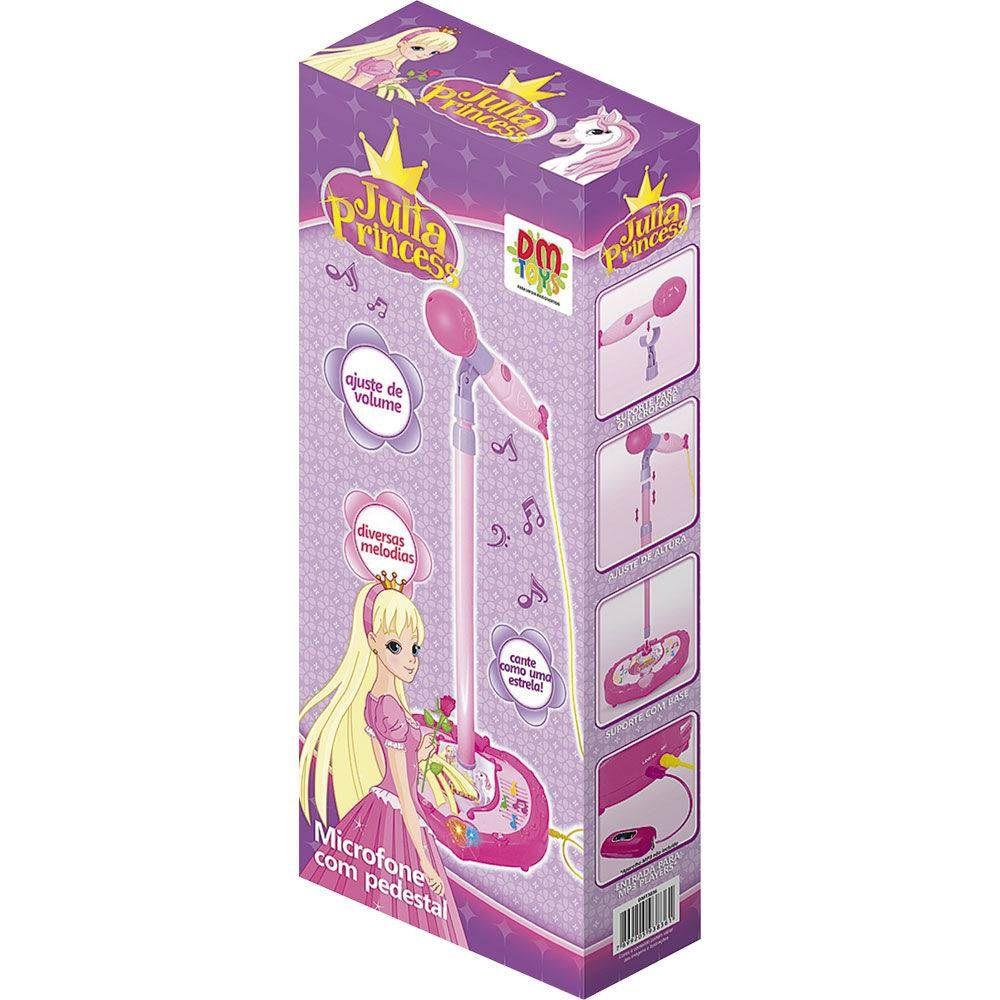 Microfone com Pedestal Julia Princess - DM Toys