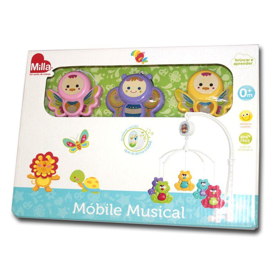 Móbile Musical Passarinho e Borboletinha - Milla