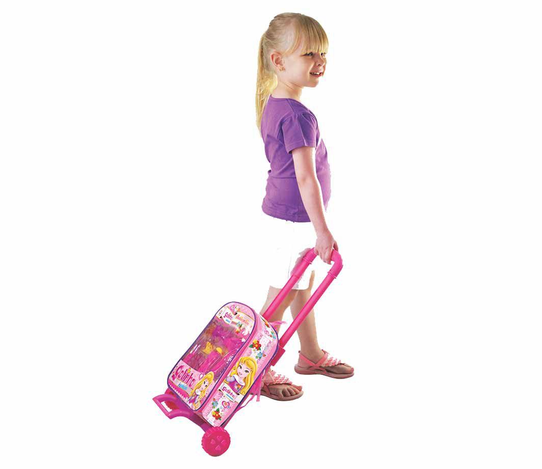 Mochila com Rodinhas Gatinha Fashion com Acessórios - Lider Brinquedos