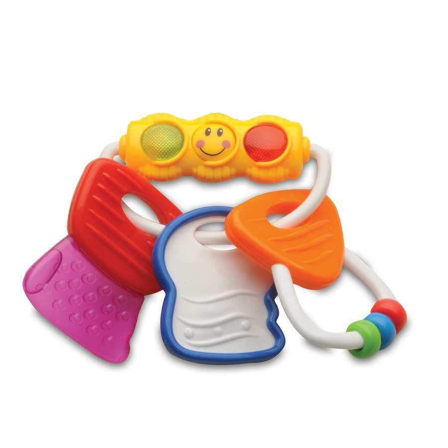 Chocalho e Mordedor Morde Morde Chaveirinho com Luz - Zoop Toys