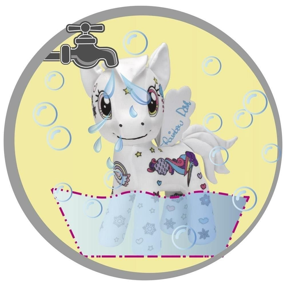 My Little Pony Pelúcia Pinte e Lave Rainbow Dash - FUN