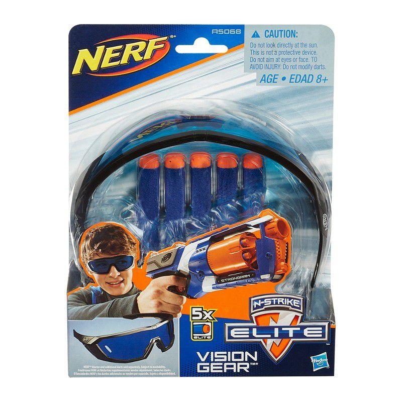 Óculos Nerf N-Strike Elite Vision Gear com Dardos - Hasbro