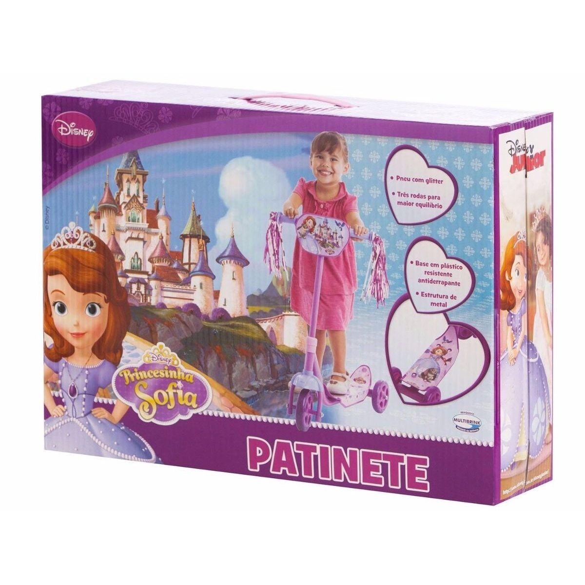 Patinete Princesinha Sofia Disney 3 Rodas  - Multibrink