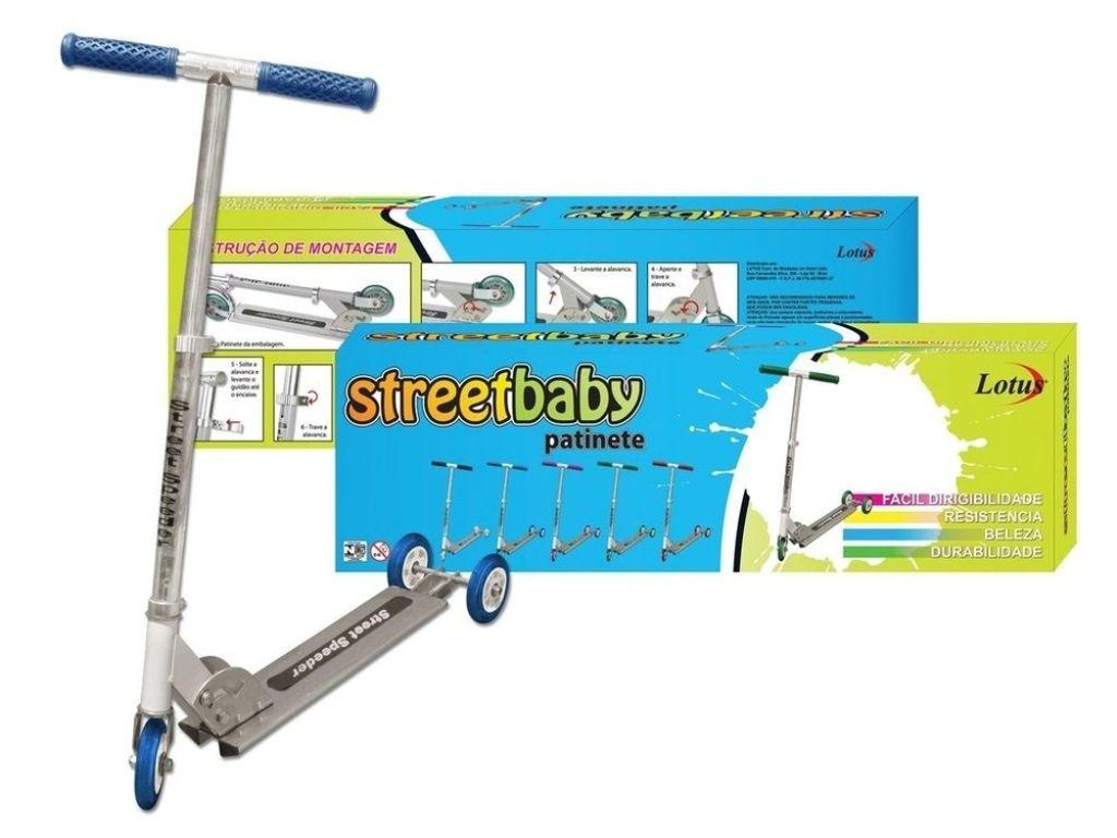 Patinete Street Baby Azul 3 Rodas - Lotus