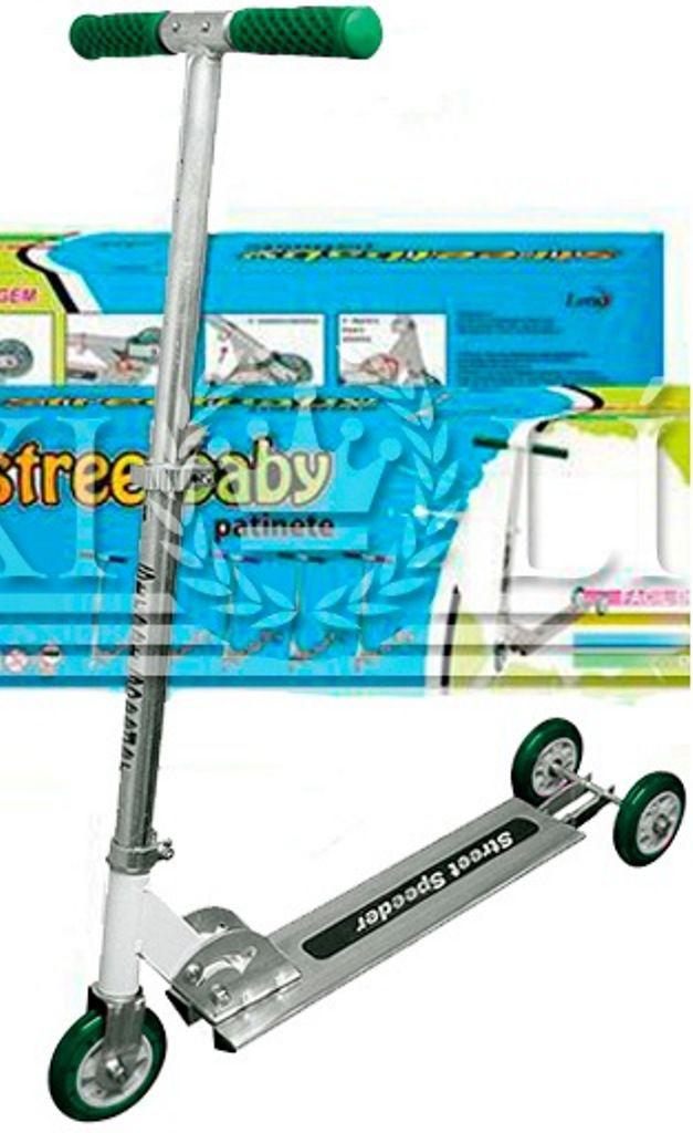 Patinete Street Baby Verde 3 Rodas - Lotus