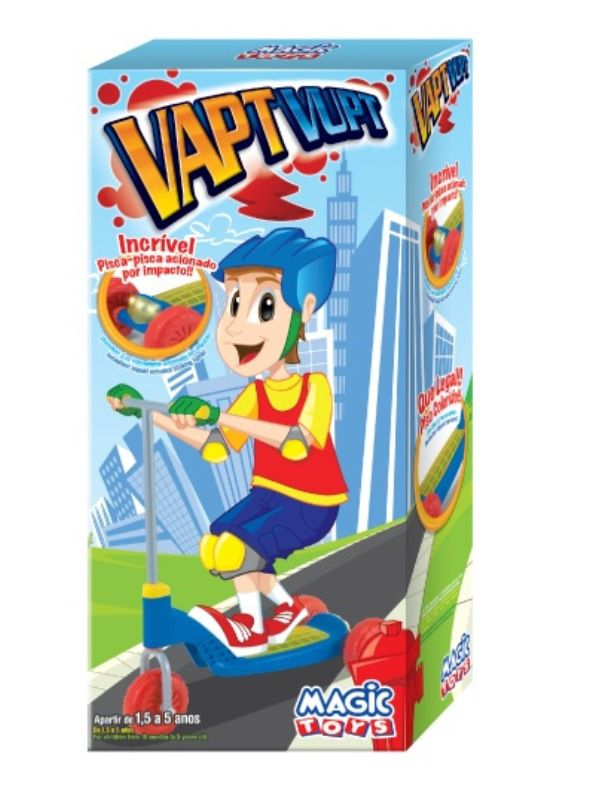 Patinete Vapt Vupt Azul 3 Rodas - Magic Toys