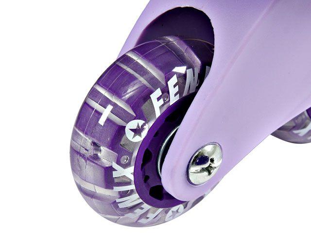 Patins In-Line Ajustáveis com Kit Segurança 34 ao 37 Roxo - Fênix