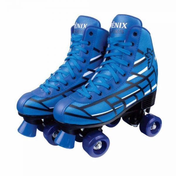 Patins Roller Skate Azul - Fenix Brinquedos