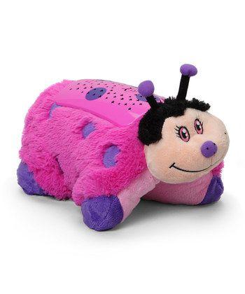 Pillow Pets Dream Lites Hot Pink Lady Bug Projetor Joaninha - DTC