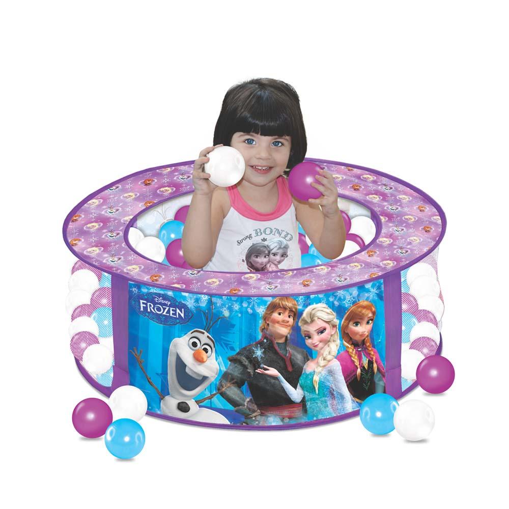Piscina de Bolinhas Frozen Disney com 100 Bolinhas - Líder Brinquedos