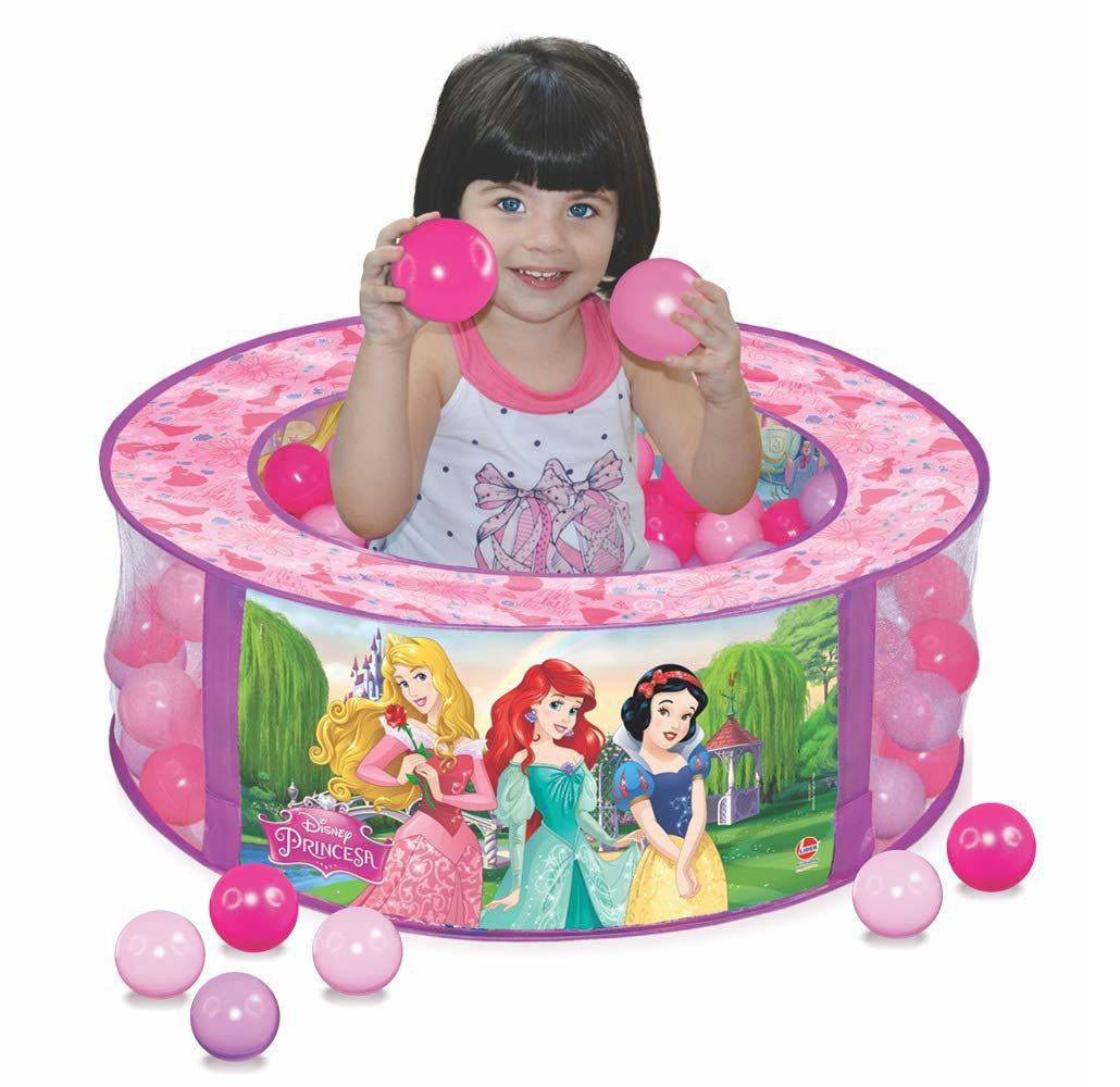 Piscina de Bolinhas Disney Princesa com 100 Bolinhas - Lider Brinquedos