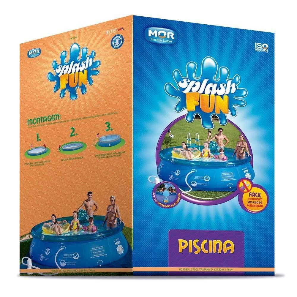 Piscina Inflável Splash Fun 6700 Litros - MOR