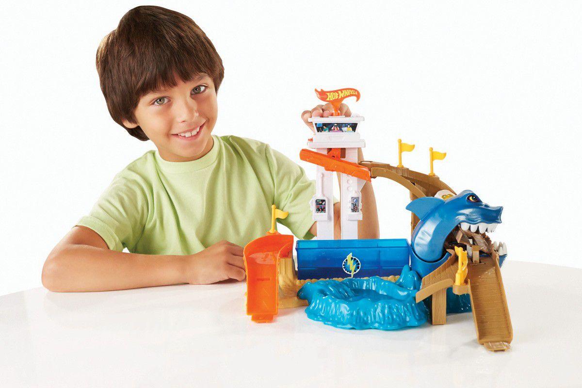 Pista Hot Wheels Color Shifters Ataque do Tubarão - Mattel