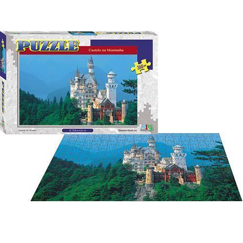 Quebra-cabeça Clássico Castelo na Montanha - Nig Brinquedos