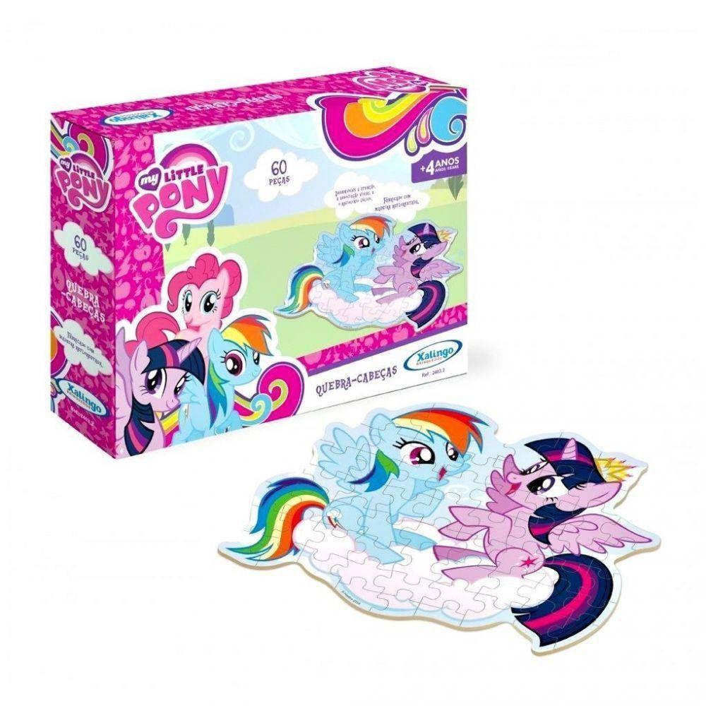 Quebra-cabeça My Little Pony 60 Peças em Madeira - Xalingo