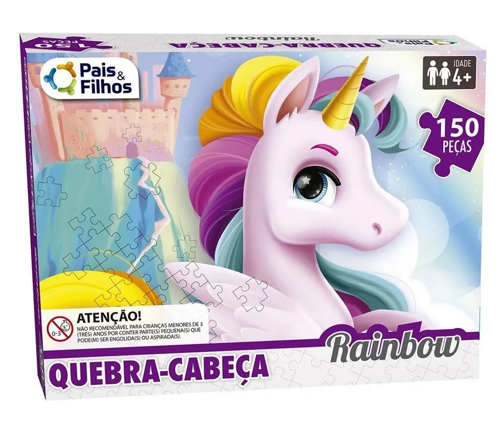 Quebra-cabeça Rainbow 150 Peças - Pais e Filhos