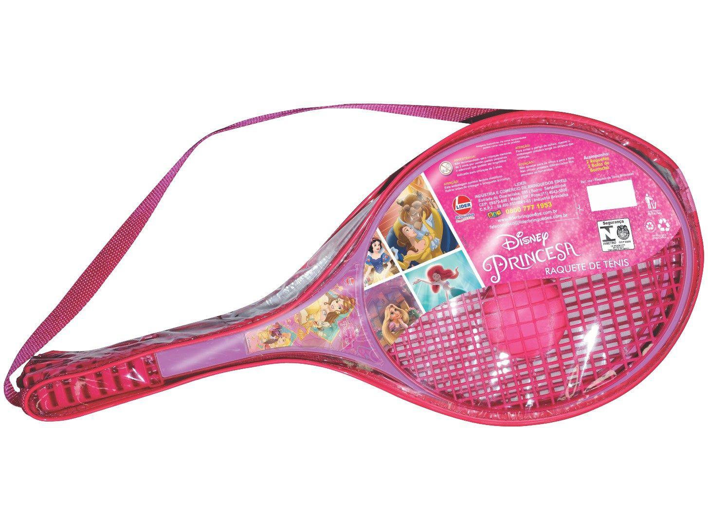 Raquete de Tênis Disney Princesa - Lider Brinquedos