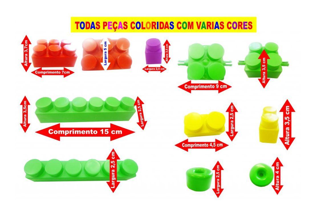 Super Blocks Bolsa 80 Peças Grandes Sortidos - Riber Brink