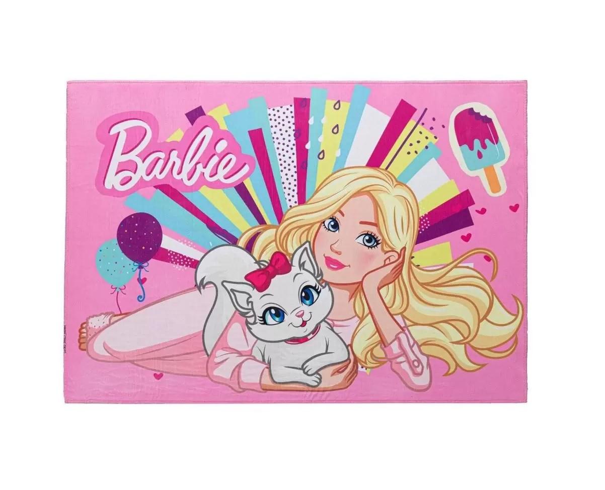 Tapete Joy Antiderrapante Barbie Cores 70 cm x 1,00 m - Jolitex