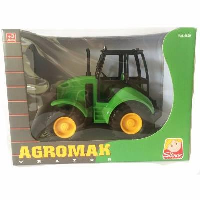 Trator Agromak - Amarelo/ Verde/ Vermelho - Silmar Brinquedos