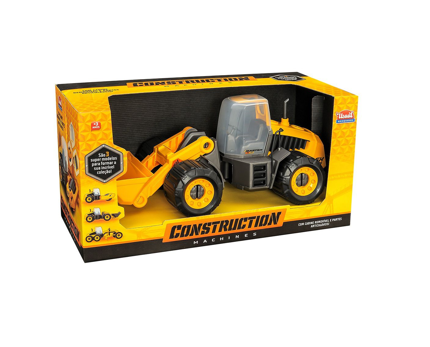 Trator Construction Machines Master SX 130 - Usual Brinquedos