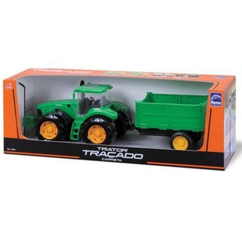 Trator Traçado Carreta - Roma Brinquedos