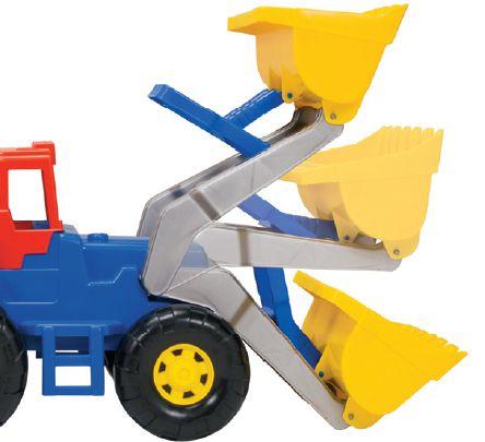 Trator Truck com Pá Carregadeira Vermelho - Magic Toys