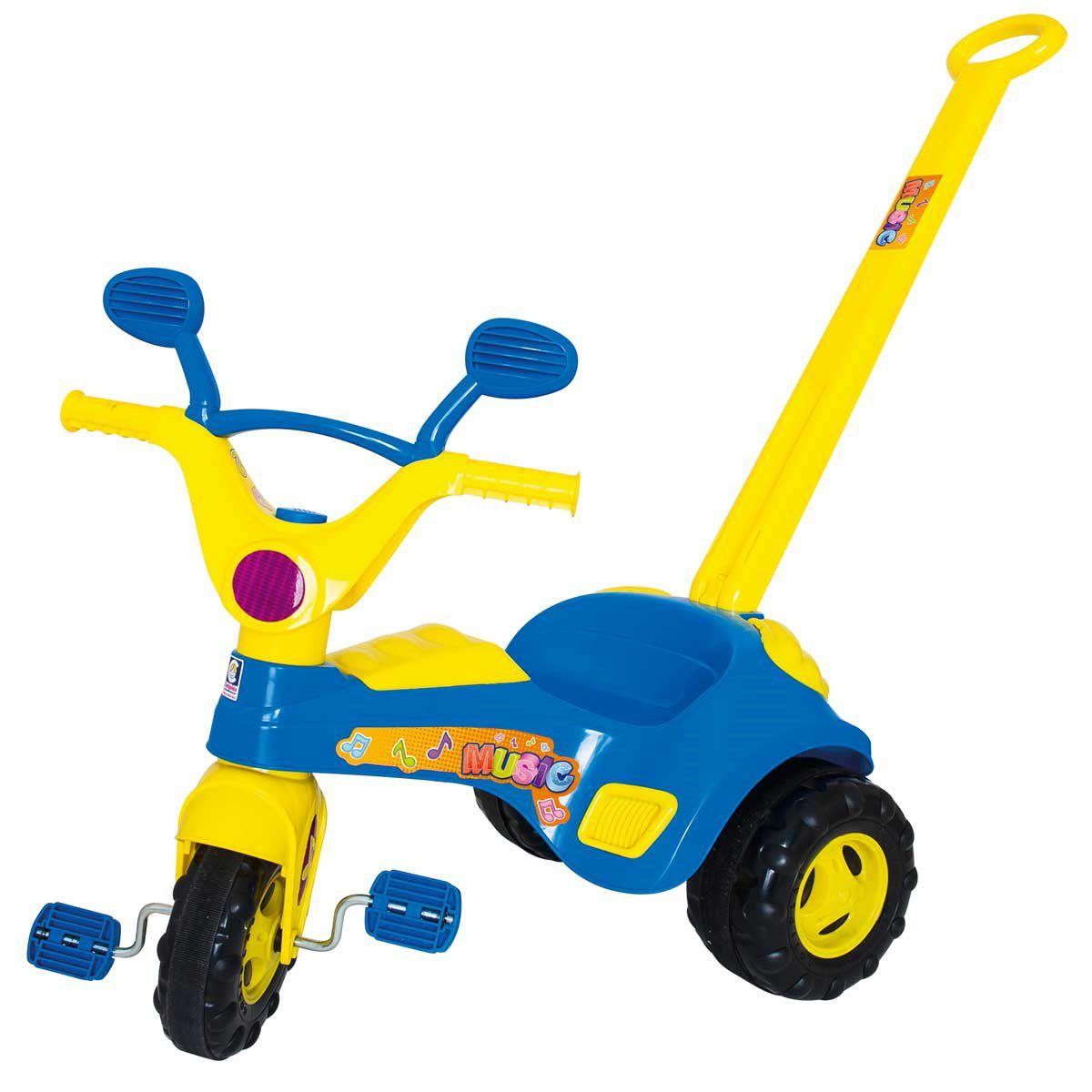 Triciclo Infantil Blue Music com Som - Cotiplás