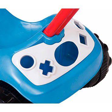 Triciclo Tico Tico Formas com Empurrador Azul - Magic Toys