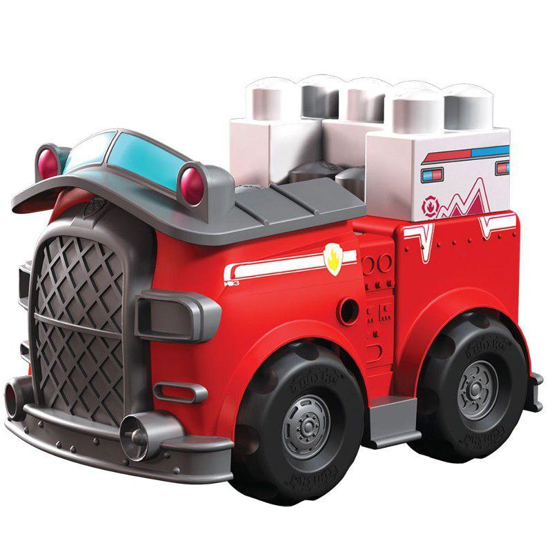 Veículo com Blocos de Montar Patrulha Canina Marshall e Carro de Resgate - Sunny