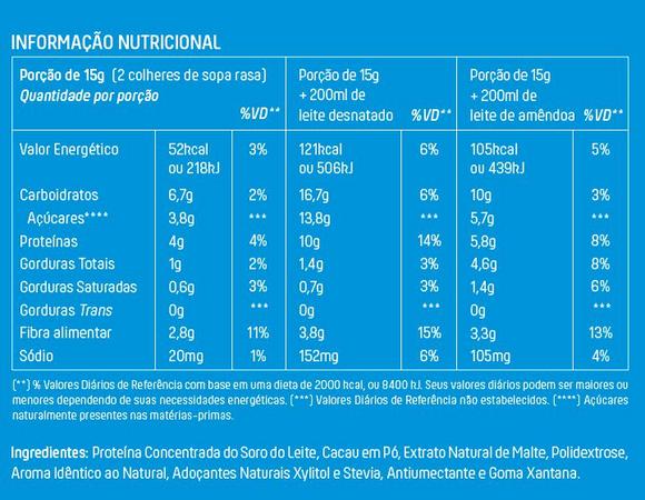 Achocolatado Proteico em Pó com Whey e 35% Cacau 250g - Mais Mu