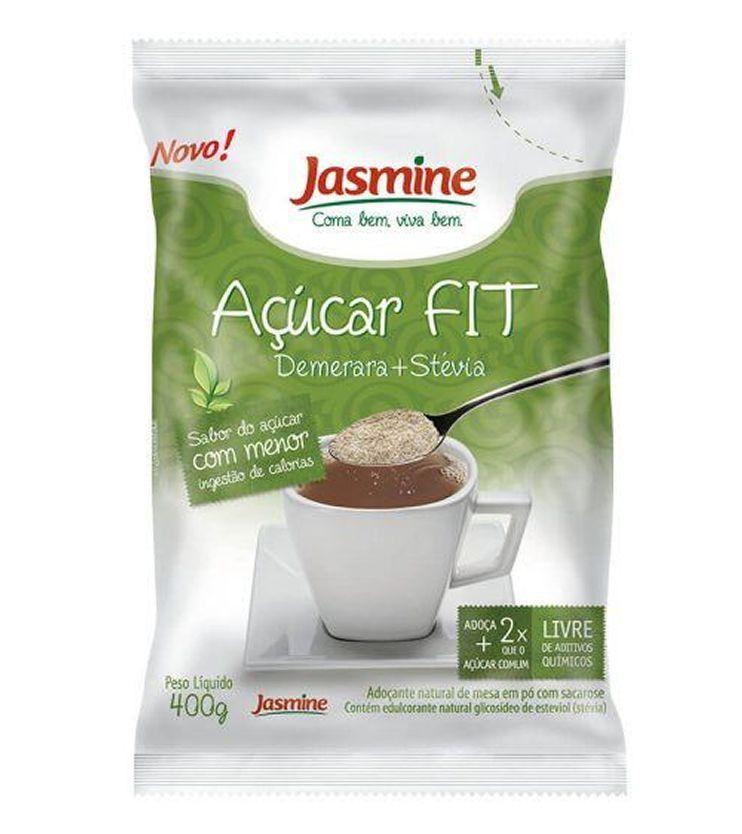 Açúcar fit Demerara + Stevia 400g - Jasmine