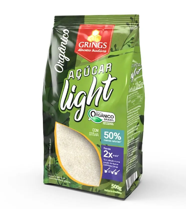 Açúcar Light Orgânico 500g - Grings Alimentos Saudáveis
