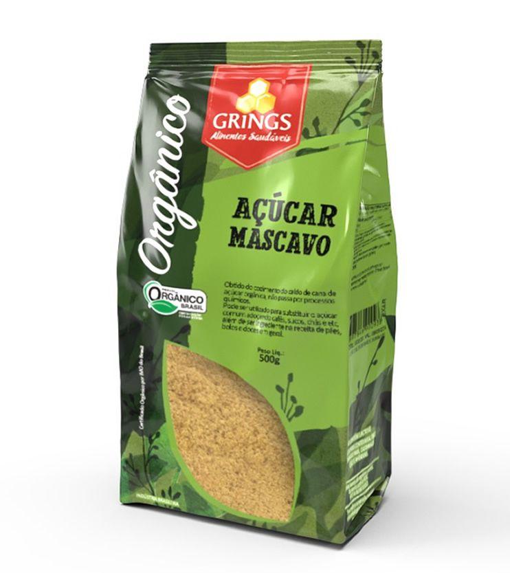 Açúcar Mascavo Orgânico 500g - Grings Alimentos Saudáveis