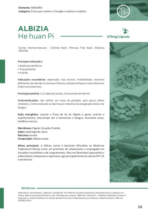 ALBIZIA He Huan Pi 60 cápsulas de 470mg - Vitafor