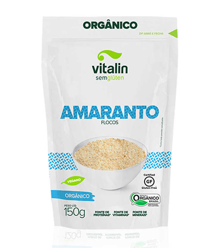 Amaranto em Flocos Orgânico 150g - Vitalin Sem glúten