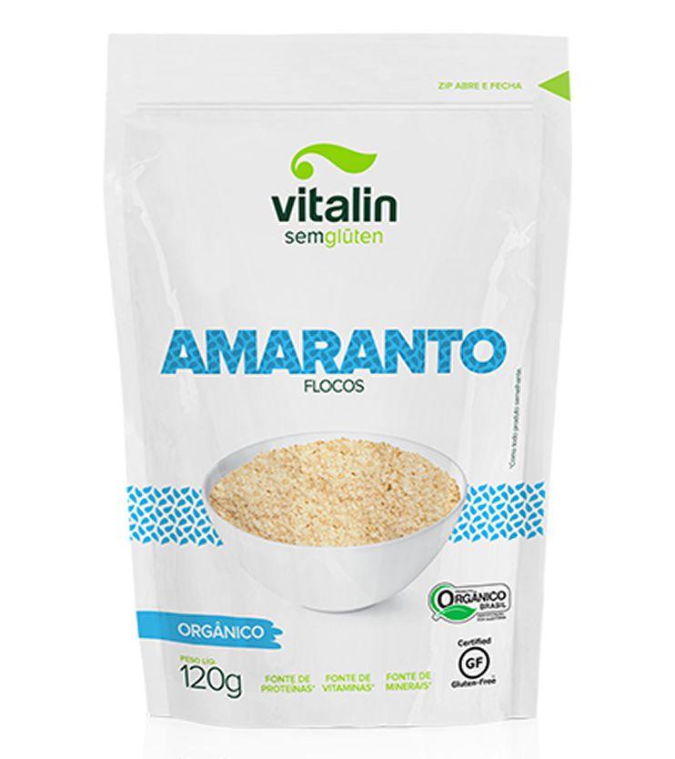 Amaranto em Flocos Orgânico - Vitalin Sem glúten