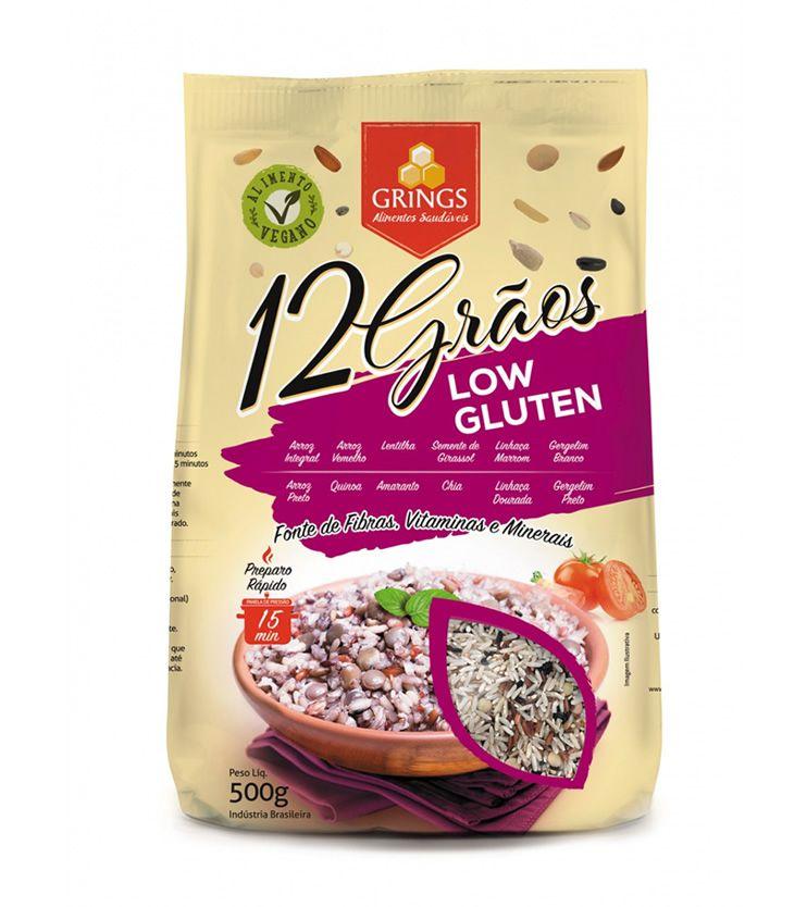 Arroz 12 grãos Low Glúten 500g - Grings Alimentos Saudáveis