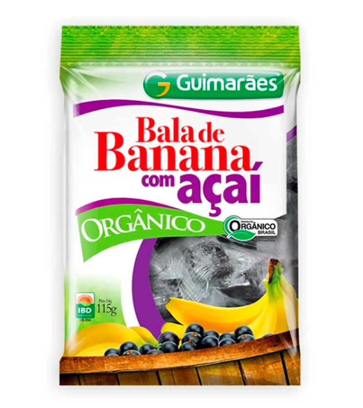 Bala de Banana com Açaí Orgânica 115g - Guimarães