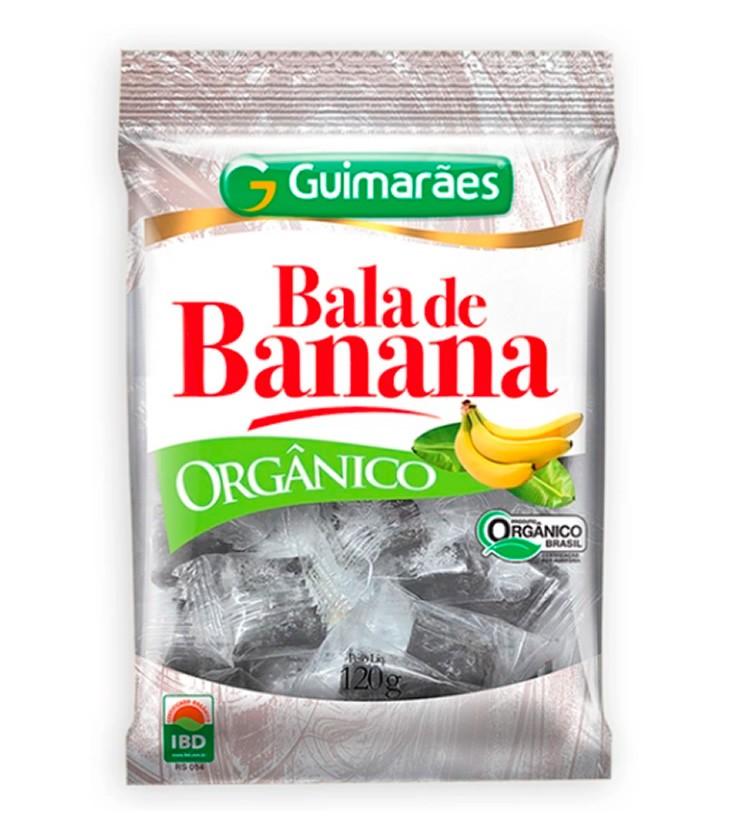Bala de Banana Orgânica 120g - Guimarães