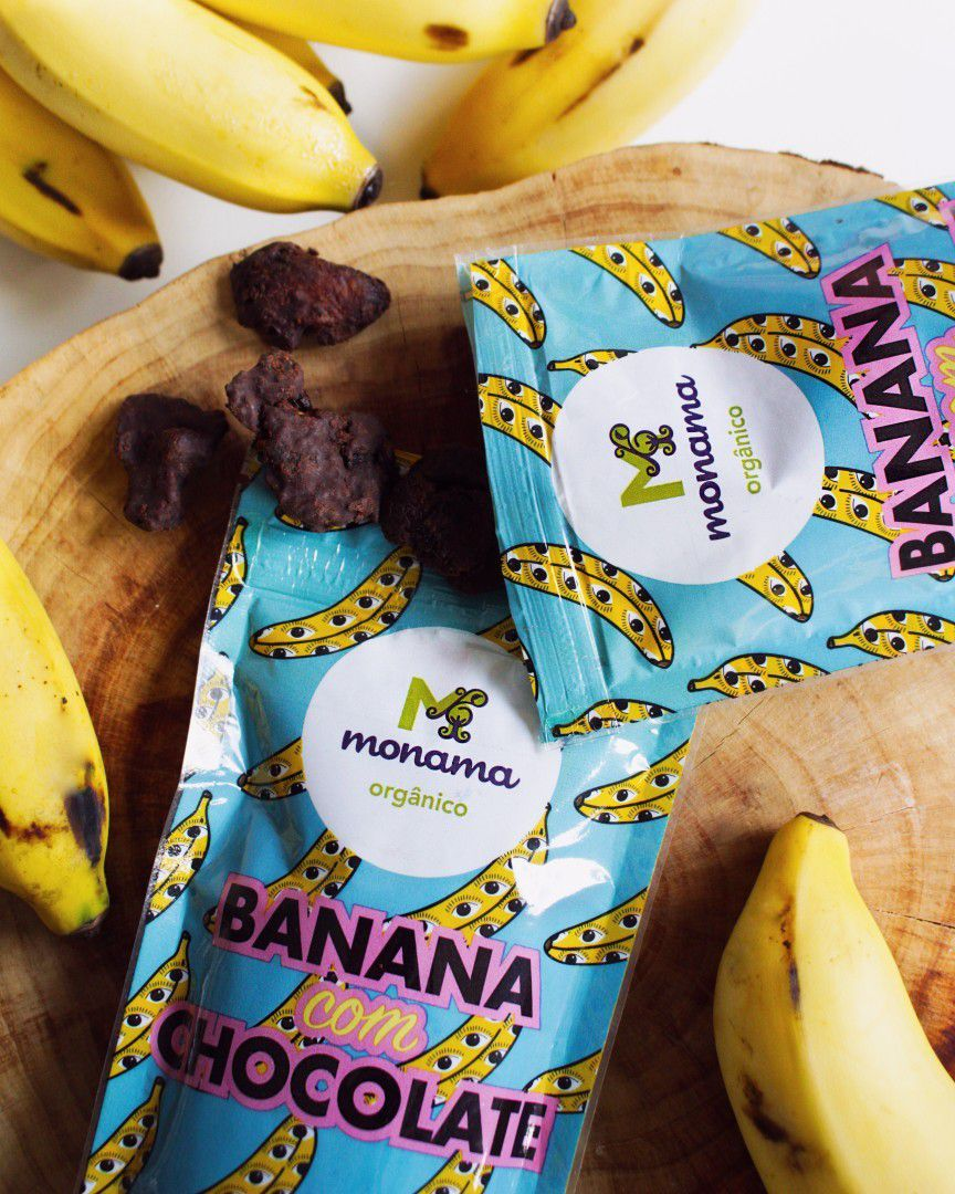 Banana com Chocolate 50g - Monama