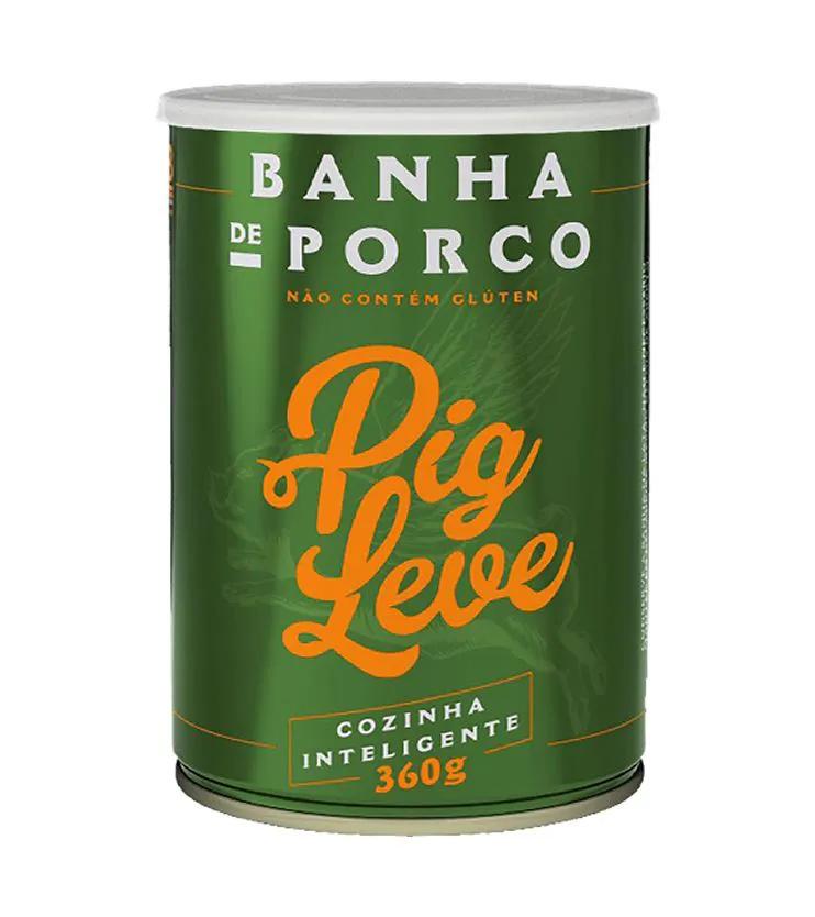 Banha de Porco lata 360g – Pig Leve
