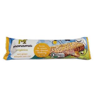 Barra de cereal Orgânica Abacaxi, Blueberry e Coco 25g - Monama