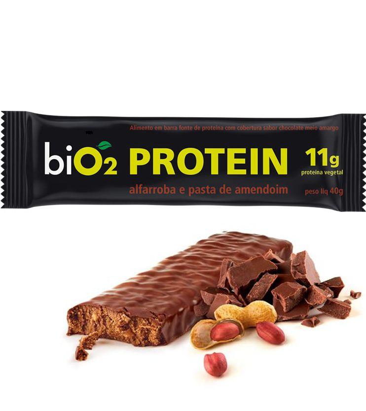 Barra de proteína Alfarroba e Pasta de Amendoim 40g - biO2
