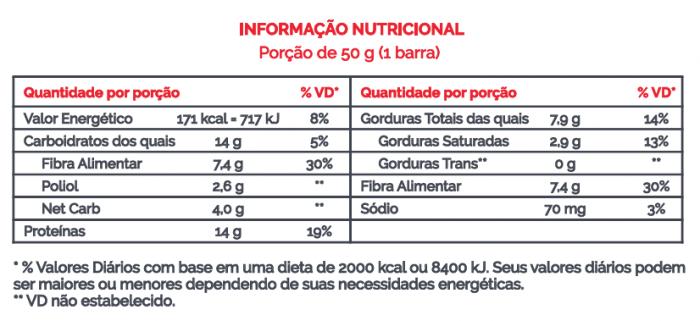 Barra de Proteína Vegana Defense Cacau + Nibs + Avelã e Pimenta 50g - B-ON