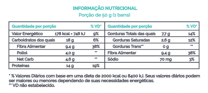 Barra de Proteína Vegana Workout Limão Veg 50g - B-ON